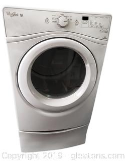High Efficiency Whirlpool Dial Front Load Clothes Dryer