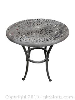 Small Round Metal Outdoor Table