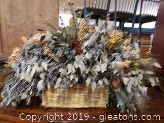 Large Basket Silk Floral Arrangment