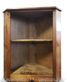 Small Corner Wooden Open Book Shelf