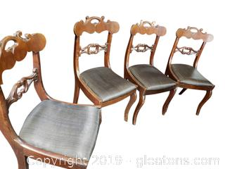 Antique Hand Carved Dining Chairs