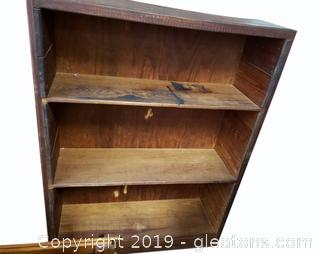 Small Farmhouse Wooden Book Shelf