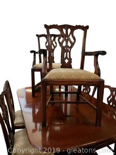 Gorgeous Set Of 8 Formal Dining Chairs