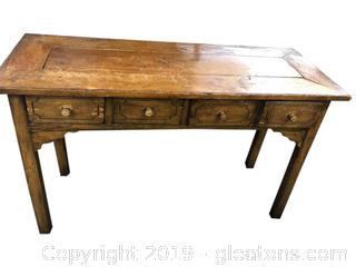 Antique Rustic Farm House Accent Or Sofa Table