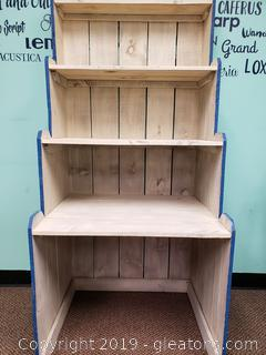 Handmade Pallet Wood Book Shelf