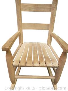 Child's Slatted Bottom Wooden Rocker