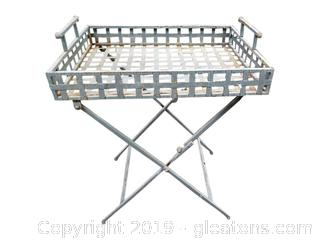 Folding Metal Tray Table