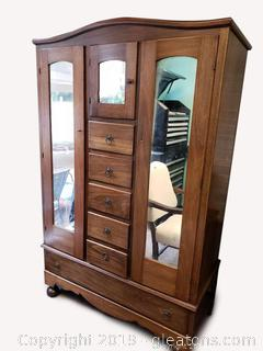Stunning Restored Antique Wardrobe