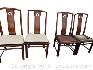 White Furniture Co Rattan Dining Chairs Set Of (4)