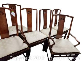 White Furniture Co Rattan Dining Chairs Set Of (6)