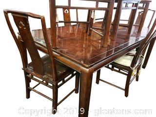 White Furniture Co Asian Dining Table With (2) Leaves