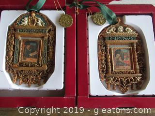 The Vatican Libary Collection Ornaments The Adoration of the Magi V/V9/VII and Nativity Scene V5/V9/VII