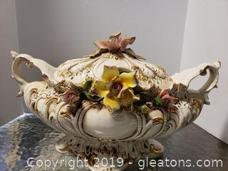 Covered Copodimonte Tureen