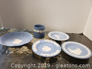 Blue And White Wedgwood Jasperware INCLUDES FLYING LADY