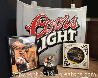 Memorabilia Of Nascar Tony Stewart #20 And Rusty