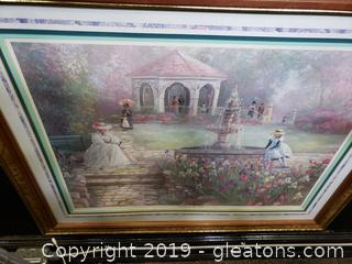 Bettie Zelder Sunday in the Park Signed Fine Art