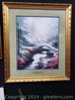 Thomas Kinkade Brookside Hide Away Signed Fine Art