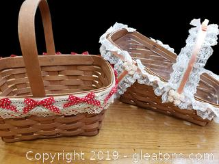 Set Of (2) 1989 Longaberger Baskets
