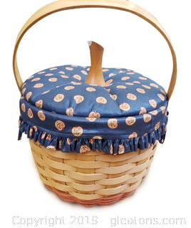 Longaberger 1997 Large Pumpkin Basket W/Lid