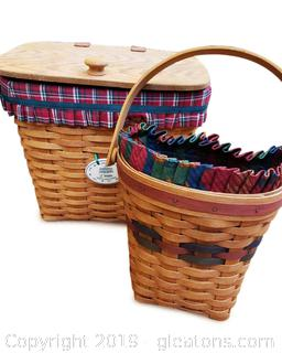 Set Of (2) 1993 Longaberger Baskets