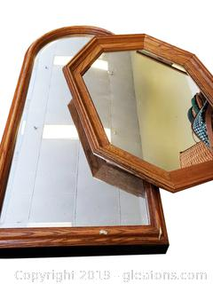 Set Of (2) Heavy Wall Mirrors