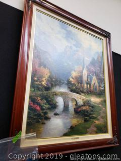 Thomas Kincaid Signed Original The Mountain Chapel