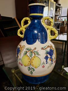 Antica Civilta Artigiana Hand Painted Ceramic URN