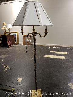 Lovely Solid Brass Floor Lamp