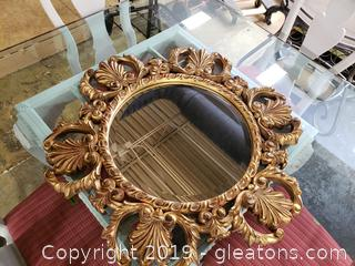 Gilded Gold Wooden Mirror