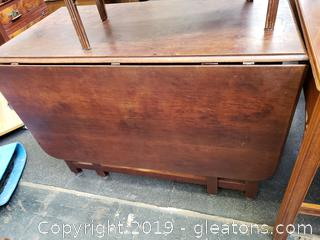 Antique Gate Leaf Drop Leaf Table