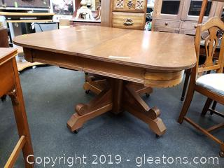 19th Century Victorian Eastlake Burled Walnut Table