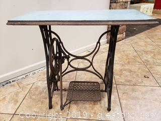 ANTIQUE NEW HOME SEWING MACHINE BASE TABLE