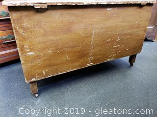 Antique Chest on Casters