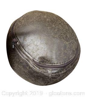 Leather Ottoman Pouf