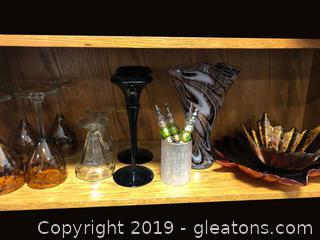 Varied Lot Of Nice Glassware Pieces