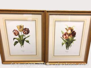 Paired Wall Art-Tulips