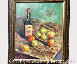 Impressionistic Still Life In A Beautiful Frame