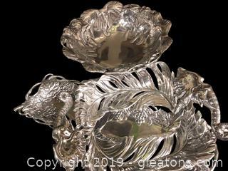 3 Gorgeous Armetale (Heavy Aluminum) Serving Pieces