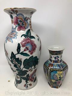 Lot Of Oriental Asian Vases