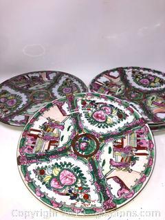 Set of Six China Oriental Plates