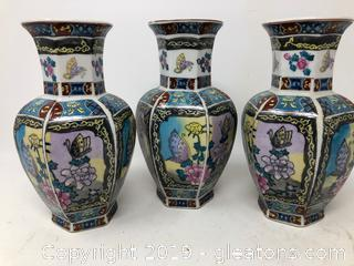 Lot Of Twp Oriental Small Vases A