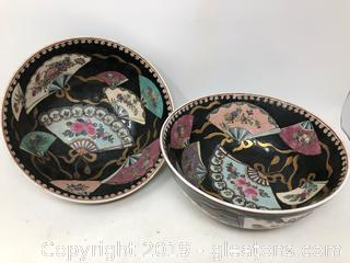 Lot Of Two Oriental Asian Bowls