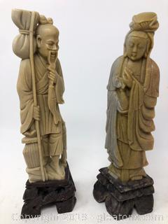 Vintage Lot Of Hand Carved Figurines A
