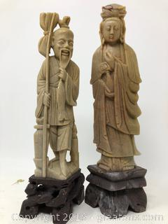 Lot Of A Pair Of Figurines E