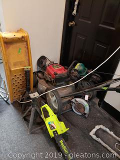 Lot Of Tools And Craftman Push Mower