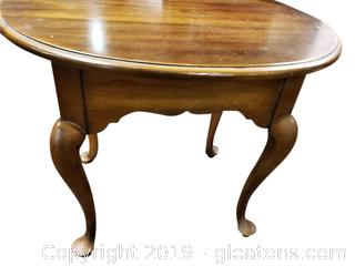 """Statton"" Small Wooden Oval End Table"