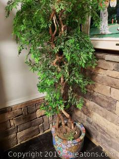 Beautiful Silk Tree In Ceramic Urn