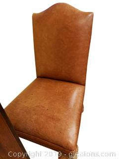 Oversized Leather Accent Chair