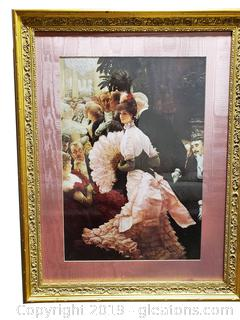 Large Victorian Gold Framed Wall Art