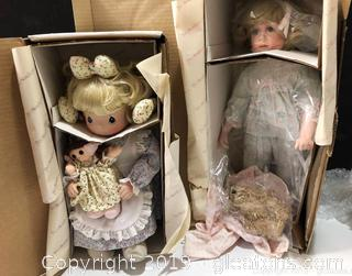 Lot Of Dolls By Precious Moments And Hamilton